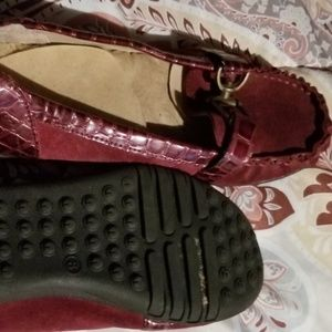 Burgundy loafers  -size 8
